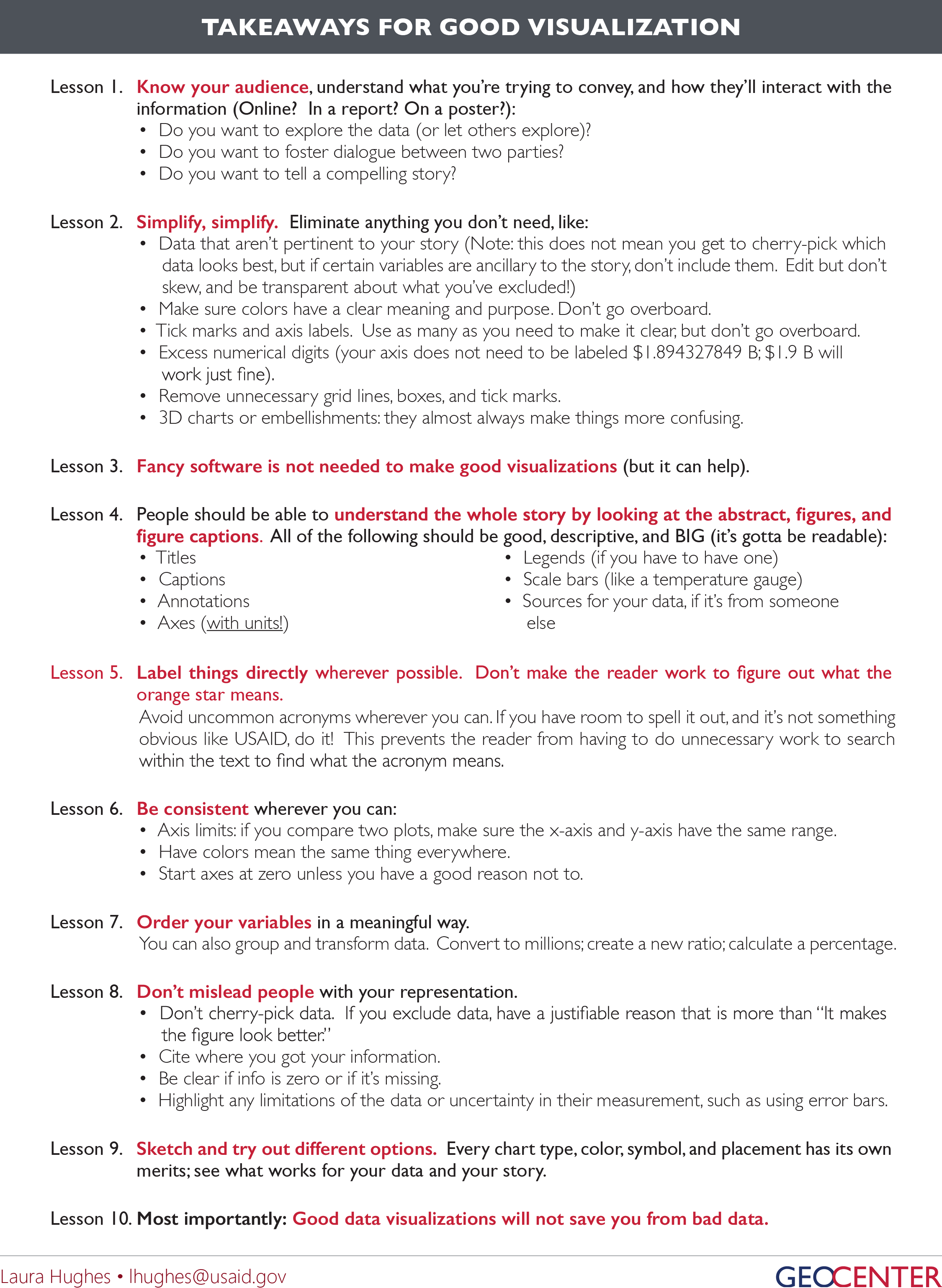 Ten Things To Keep In Mind When Creating A Visualization How To Ask Man  Loses His